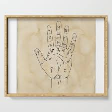 Palmistry Diagram Palm Reading Chart Palm Reading Guide Illustration Serving Tray By Lapetitemesange