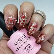 Canada Day Gel Nail Designs Canada Day Nails Gel Thermal Polish Nail Art Designs Nail