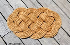 Nautical Decor Nautical Rope Doormat Welcome Mat Small 14 X