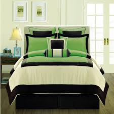 manhattan duvet cover set green