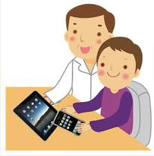 kids watching tv clipart. ipad cliparts #146751 kids watching tv clipart n