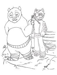 kung fu panda2 coloring pages the incredibles free po and tigress by chocolatesketch d3hihlv