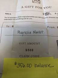 magnolia market gift card worth 356 1 of 1