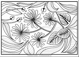 Fresh Wonderful Spring Flower Coloring Pages Printable With Coloring