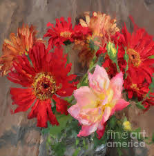 gerbera daisy and rose bouquet oil painting stretched canvas prints dogwood tree flowers canvas prints canvases and stretched canvas