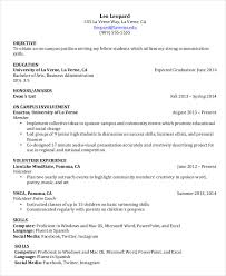 Undergraduate Student Resume Example Images Of Photo Albums College