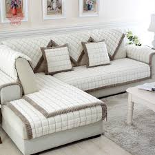 sectional sofa covers. White Grey Plaid Plush Long Fur Sofa Cover Slipcovers Fundas De Sectional Couch Covers SP3923 FREE SHIPPING-in From Home 0