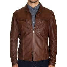 khakis italian made leather jacket