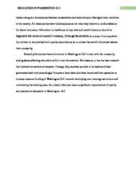 solution issues facing education in washington dc essay studypool running head education in washington d cissues affecting education in washington citystudent course code title of