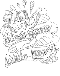Free Online Coloring Pages For Adults Swear Words Printable