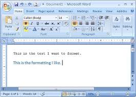 Office Word Format Copy Font Paragraph Control Object And Cell Formatting