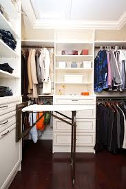 an ironing board is a great addition to a walk in closet if you want