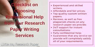 who can help me to write my research paper  help me write my research paper checklist