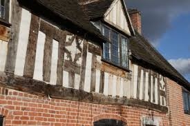 repaired and rebuilt timber frame