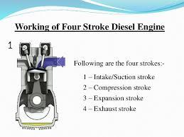 diesel engine powerpoint working of four stroke diesel