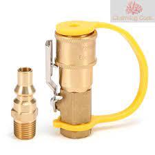 หัวเชื่อมต่อท่อแก๊สทองเหลือง 1/4 นิ้ว