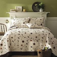 Ambria Chocolate Quilt, 100% Cotton - Bed Bath & Beyond & Ambria Chocolate Quilt, 100% Cotton Adamdwight.com