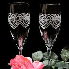 Personalized <b>Celtic Knot</b> Champagne Flutes, Irish Wedding Glasses ...