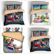 details about super mario odyssey princess peach mario luigi duvet cover set kids bedding set