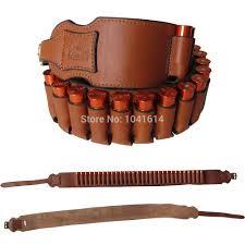 genuine leather bandolier bullet belt shell holder belt shot ammo cartridge unbrandedgeneric