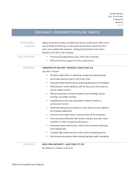 Sample Resume Insurance Underwriter Position Awesome Underwriter assistant  Resume Samples Tips and Templates