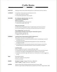 Example Resume College Student No Work Experience Sample Internship