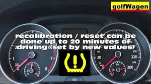 Vw Golf 7 Resetrecalibrated Tpms Tire Pressure Monitoring System