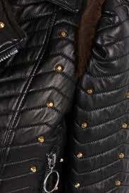 studded quilted biker jacket od gucci