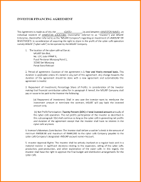 Business Investment Agreements Sample Investor Agreement Template Fresh Small Business Investment 13