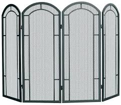 southern living black wrought iron fireplace screen screens 4 fold small crest fireplace screen