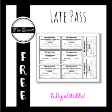 Hallway Pass Template Hall Pass Template Editable By Mrs Barrett Teachers Pay Teachers
