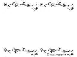 フリー素材フレームモノトーンの花とツルの飾り枠640480pix Web