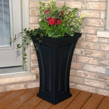 classy tall outdoor planters next to front door with inc patio planter flower pots boxes