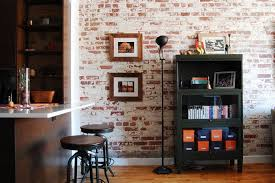 whitewash bookcase with industrial kitchen also black bookcase black floor lamp breakfast nook exposed brick wall floor lamp hardwood floor icestone