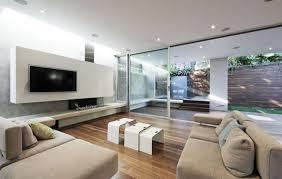 Modern Living Room Idea Living Room White Tv Wall And Purple Sofa For Living Room D