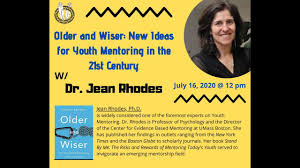 "Older and Wiser: New Ideas for Youth Mentoring in the 21st Century"" w/ Dr. Jean  Rhodes - YouTube"
