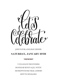 Lets Celebrate Party Invitation Template Free Formal