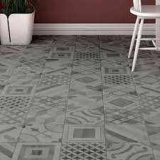 Almada Grey Rustic Wall and Floor Tile - ALM-GRE-FL