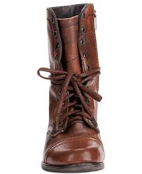 Womens Troopa Combat Leather Boots
