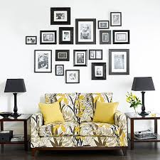 displaying family photos on your walls