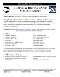 Sample Resume For Hotel And Restaurant Management Sample Resume Hotel Restaurant Management Graduate at Resume Sample 2