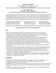 Resume Templates For Executives Canadianlevitra Com