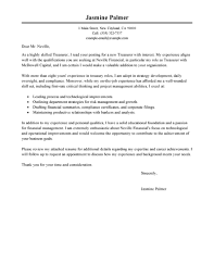 leading professional treasurer cover letter examples resources treasurer cover letter example