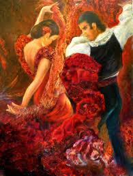 sylva zalmanson flamenco dancer 6 2016 acrylic painting