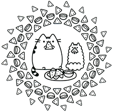7 Pusheen Lineart Kitten Coloring For Free Download On Ayoqqorg