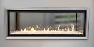 make double the impact with a see through double sided fire escea fireplace blog