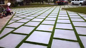 patio stones with grass in between. Modren Stones Miami Artificial Turf Turf Strips Grass Between Concrete Slab Artificial  Drive Way  YouTube On Patio Stones With Grass In Between