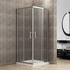 elegant 900 x 900 mm framed corner entry 6mm sliding shower enclosure set