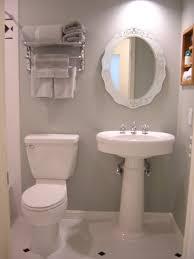 Tiny Bathroom Bathroom Chic Tiny Bathroom Decorating Idea With White Pedestal