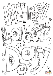 Small Picture Happy Labor Day Doodle coloring page Free Printable Coloring Pages